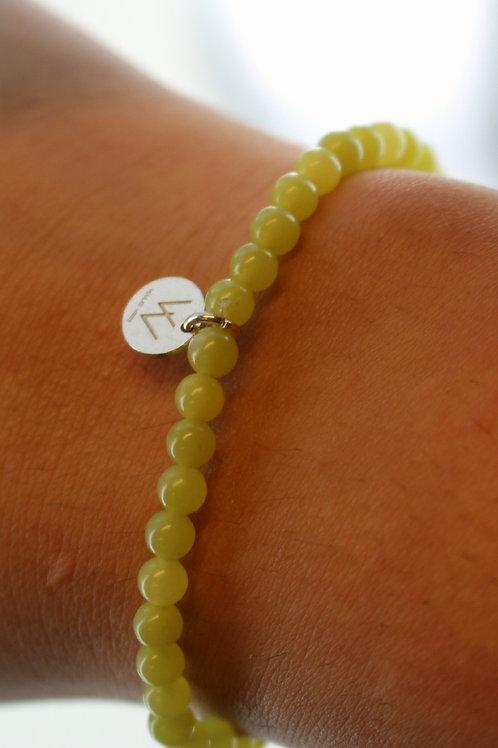 Lemon jasper semi precious bracelet