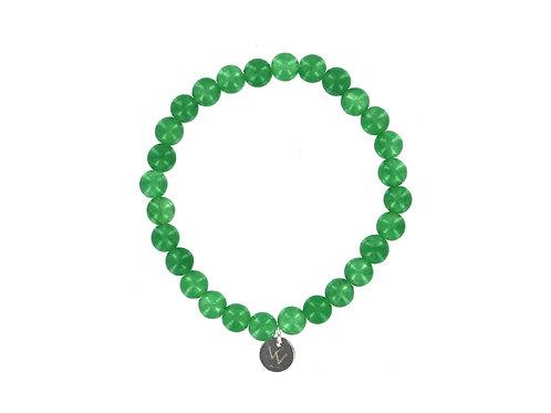 Green Aventurine elasticated gemstone bracelet