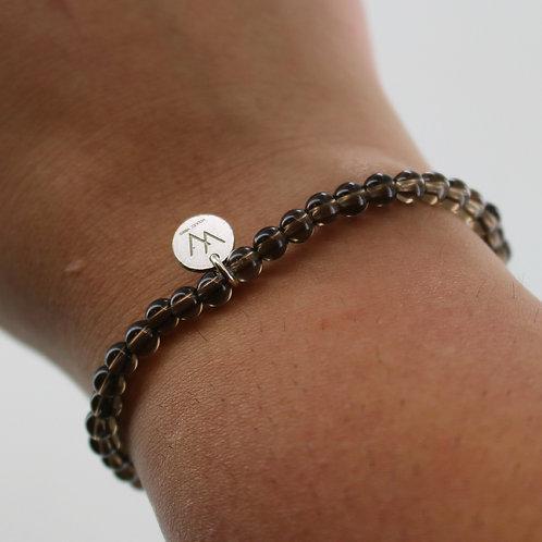 Smokey quartz semi precious bracelet