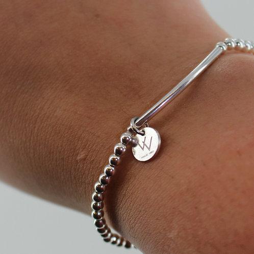 Serling silver elasticised bracelet