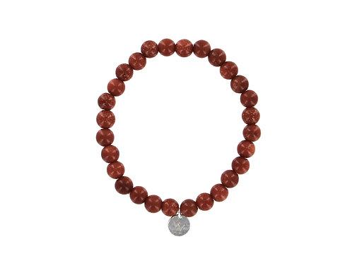 Goldstone elasticated gemstone bracelet