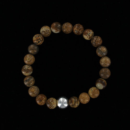 Men's Jasper elasticated bracelet