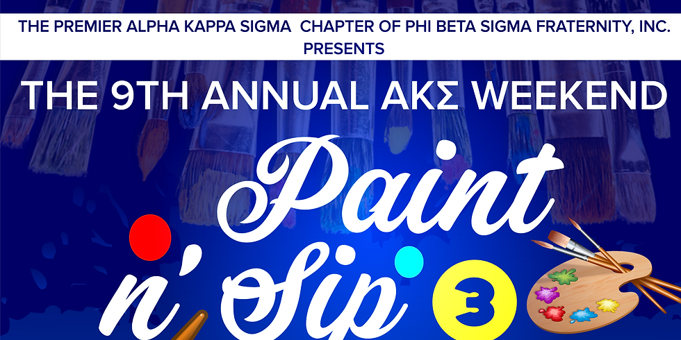 9th Annual AKΣ Weekend: Paint N' Sip for Scholarships 3