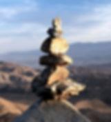 Pile of Stones in Desert Landscape - Ver