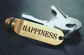 Keys to Happiness. Concept on Golden Key