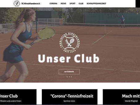 Neues Design der Website des TC Hirschlanden