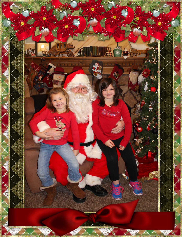 Santa & The Harris Family