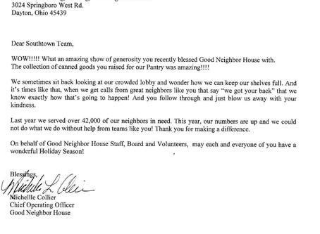 Good Neighbor House Donation