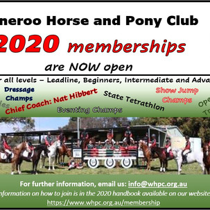 2020 Memberships are NOW Open