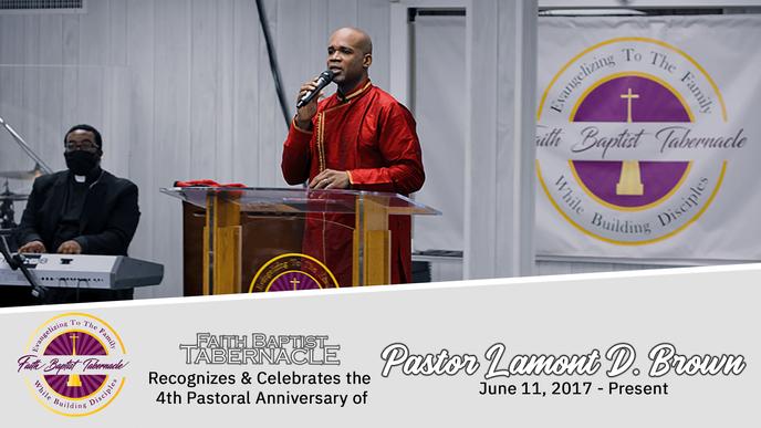 Happy Anniversary Pastor!