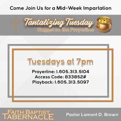 Tantalizing Tuesday