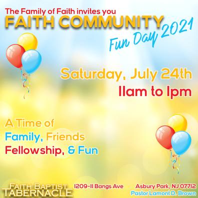 Faith Community Fun Day 2021