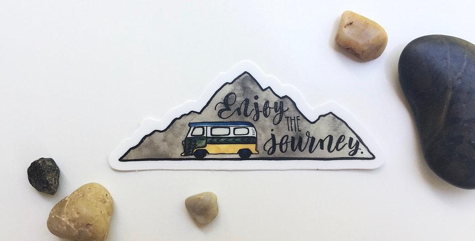 Adventure bus sticker