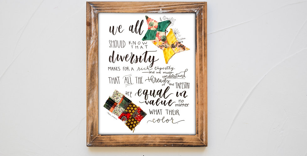 8x10 Diversity Print