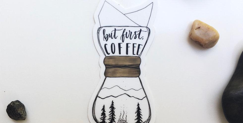 Chemex coffee sticker