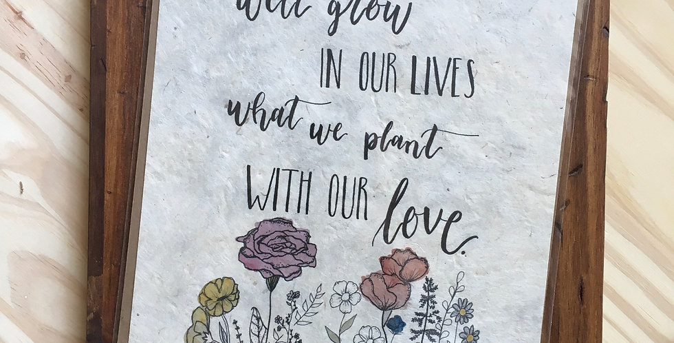 Plant with Love print on handmade paper