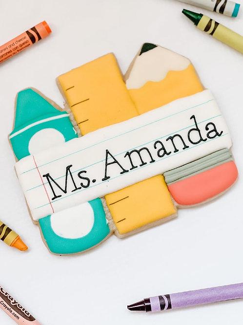 Personalized Teacher Cookie (XL)