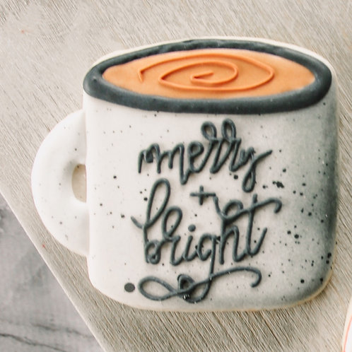 Merry & Bright Mug Cutter