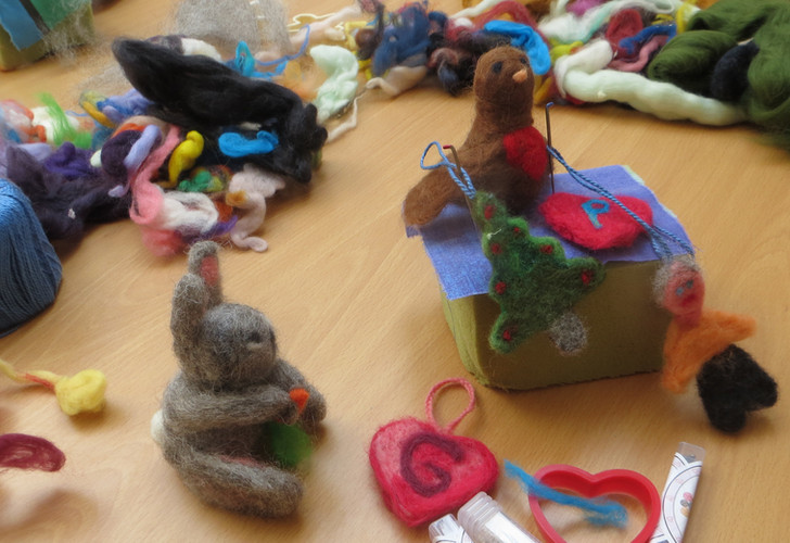 Fun felt objects from the felt-making day