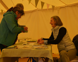 Book sales at the Craft Market