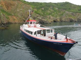 The Sark Belle arrives for the celebration cruise