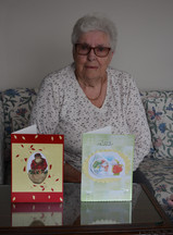 Betty Guille making cards