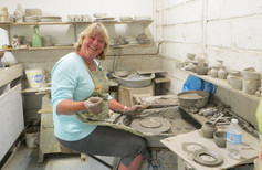 Pottery at Lorraine's with Wendy