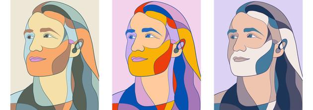 Self-Portrait Tryptic (2020)