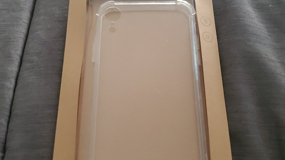 iPhone XR clear hard case