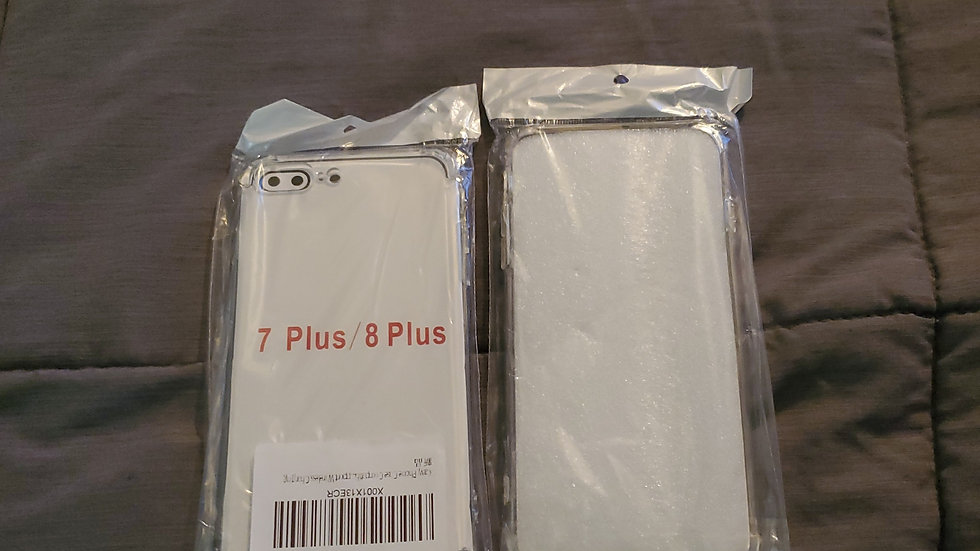 Clear iPhone 7 plus and 8 plus case.