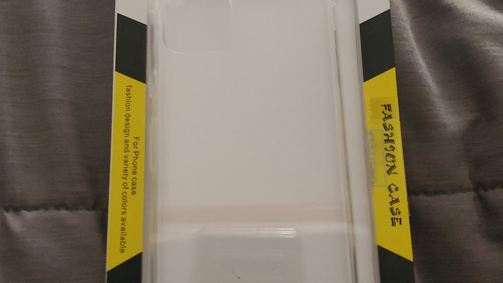 """iPhone 11 Pro Max (6.5"""") clear hard plastic case."""