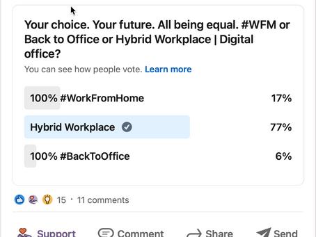 L'environnement de travail hybride est là pour rester