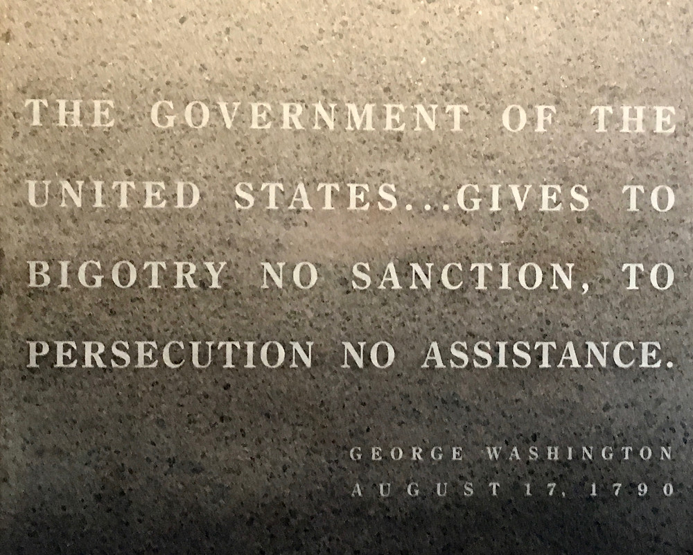 US Holocaust Memorial Museum, George Washington quote