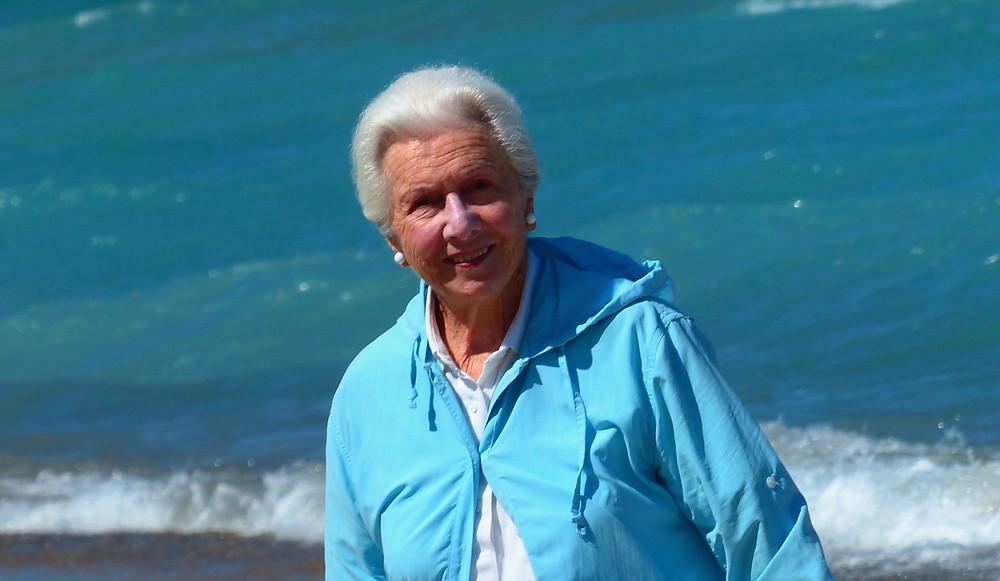 Margaret on Lake Michigan 2018
