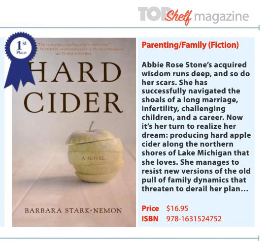 book award- Top Shelf Magazine