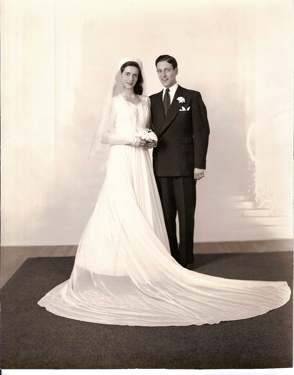Margaret and Walter Stark wedding picture