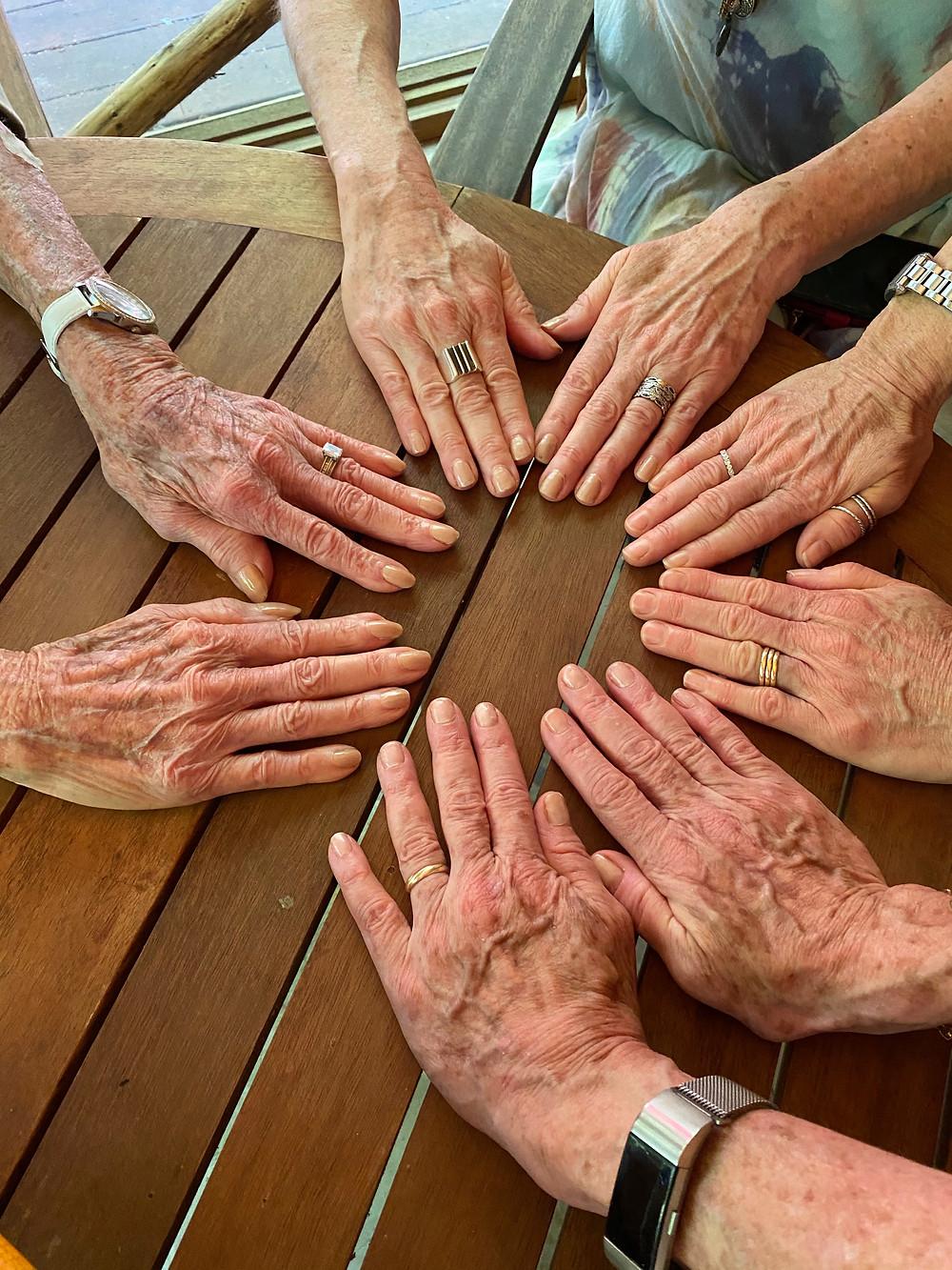 circle of hands- Steven Stark Lowenstein