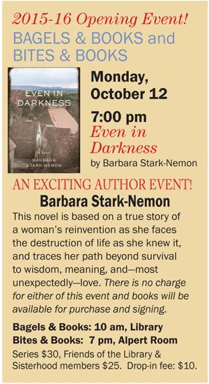 Bagels, Bites, Books- Temple Beth-El, Bloomfield Hills, MI- October 12