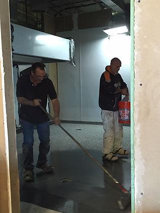 putting down floor.JPG