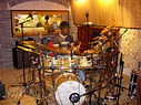 Micing/recording Tribal Roots' drums 02