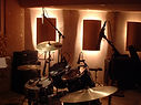 Micing/recording Tribal Roots' drums 05