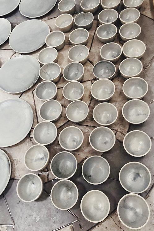 pale smoke soup bowls- PRE ORDER