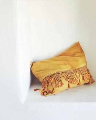 saffron tassel pillow