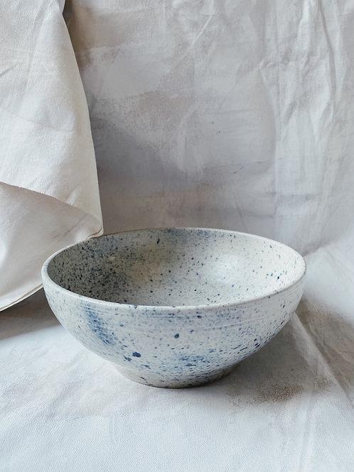 Blue drop-serving bowl