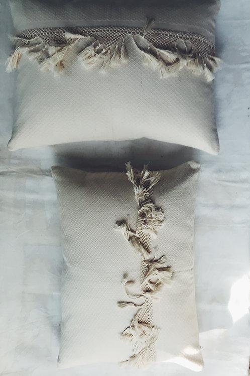 ivory tassel pillow