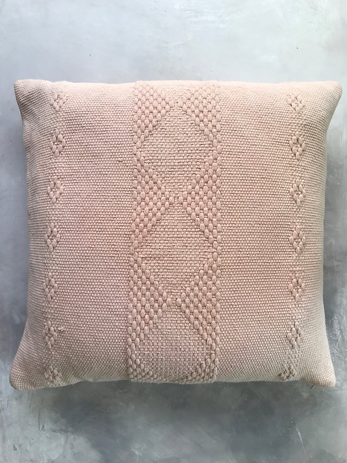 woven cotton pillow- dusty rose