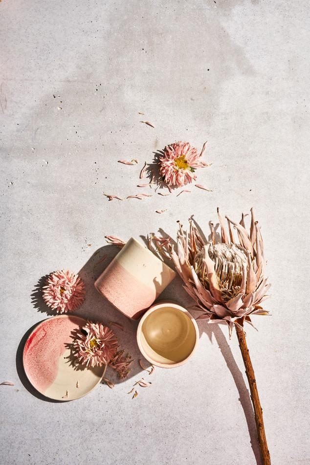 ceramic cups/collab cap beauty