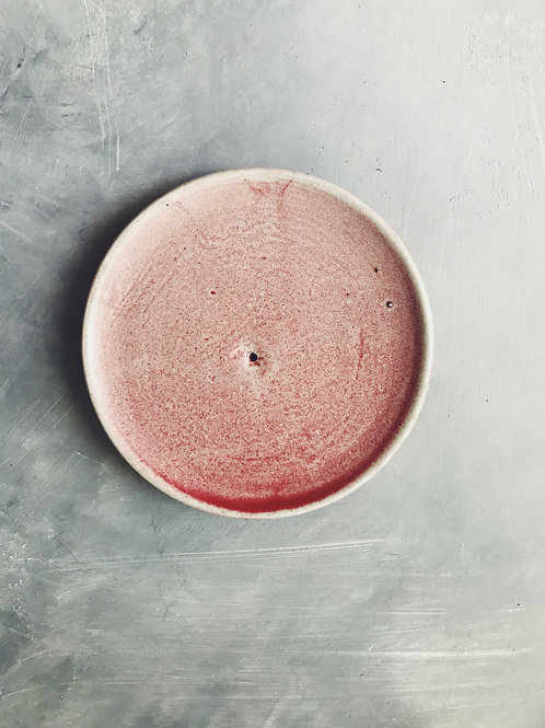 pink incense dish