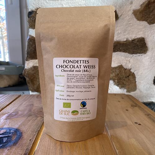 Fondettes chocolat noir (64%) Weiss