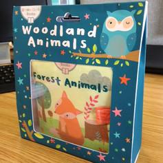 Woodland Animals Book package design